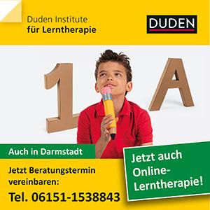Anzeige des Duden Institutes Darmstadt