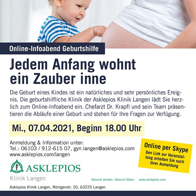 Anzeige der Asklepios Klinik Langen