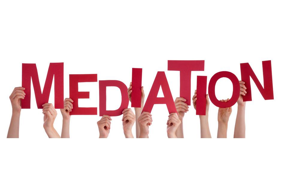 Schriftzug Mediation