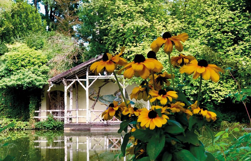 Blick auf den Teich im Gailschen Park