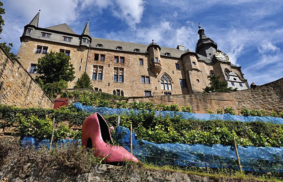 Blick aufs Marburger Schloss